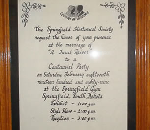 Springfield South Dakota Historical Society