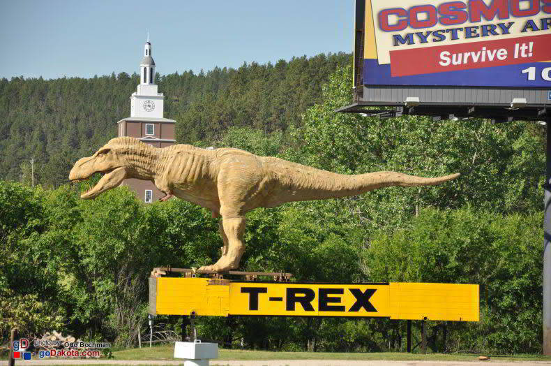 T-Rex was spotted south of Rapid City